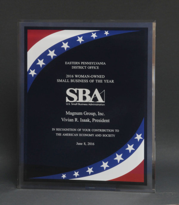 2016 SBA Woman Owned Small Business of the Year Award