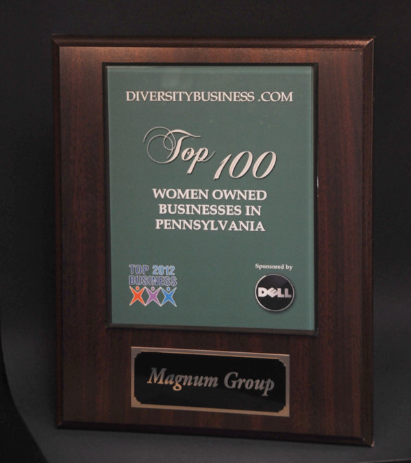 2012 Top 100 Women Owned Business Award