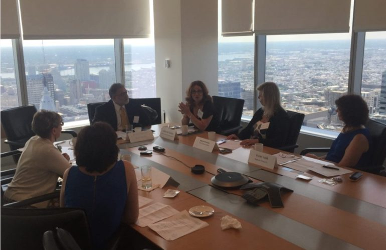 Vivian Isaak at the Philadelphia SmartCEO Think Tank roundtable